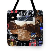 Old Tucson Arizona Composite Of Artists Performing There 1967-2012 Tote Bag