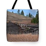 Old Turn Of The Century Log Cabin Homestead Art Prints Tote Bag