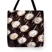 Old Typewriter Keys Tote Bag