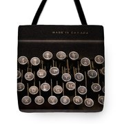 Old Typewriter Tote Bag