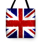 Old United Kingdom Flag Original Acrylic Palette Knife Painting Tote Bag