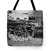 Old Wagon And Cooler Tote Bag