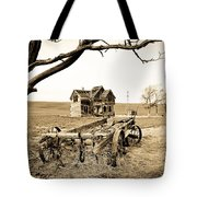 Old Wagon And Homestead II Tote Bag