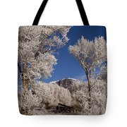 Old Wagon  Horse Frost And Jim Mountain   #3945 Tote Bag