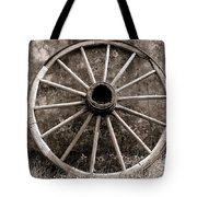 Old Wagon Wheel Tote Bag