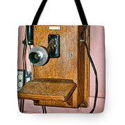 Old Wall Telephone Tote Bag
