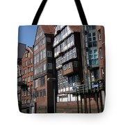 Old Warehouses Port Of Hamburg  Tote Bag