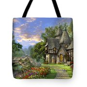 Old Waterway Cottage Tote Bag