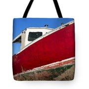Old Weathered Boat Tote Bag