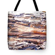 Old Weathered Log On The Sea Shore Tote Bag