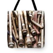 Old Weaving Spools Tote Bag