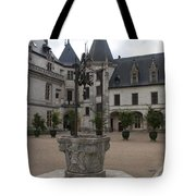 Old Well And Courtyard Chateau Chaumont Tote Bag