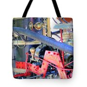 Old West Fire Wagon V2 Tote Bag