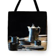 Old West Table Setting Tote Bag