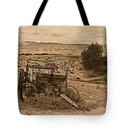 Old West Wagon Tote Bag