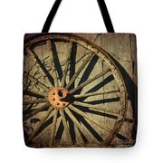 Old West Wagon Wheel Tote Bag