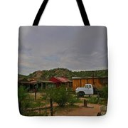 Old Western Backyard Tote Bag