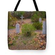 Old Western Gravesite Tote Bag