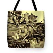 Old Western Railroad Tote Bag