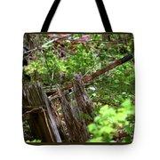 Old Wheelbarrow In The Weeds Tote Bag