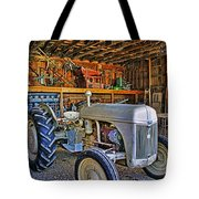 Old White Ford Tractor Tote Bag