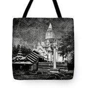 Old Whitewashed Lemyethna Temple Bw Tote Bag