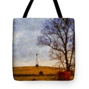 Old Windmill On The Farm Tote Bag
