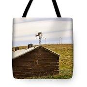 Old Windmill Vs New Windmills Tote Bag
