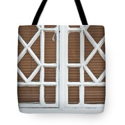 Old Window Frame Tote Bag by Tom Gowanlock