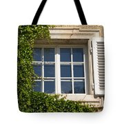 Old Window With Creeper. Tote Bag