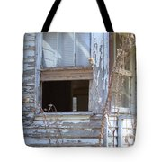 Old Windows Overlooking New World Tote Bag
