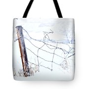 Old Wire Fence Tote Bag