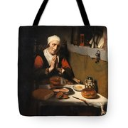 Old Woman At Prayer Tote Bag