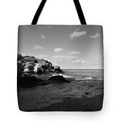 Old Woman Creek - Black And White 3 Tote Bag