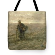 Old Woman On The Heath Tote Bag