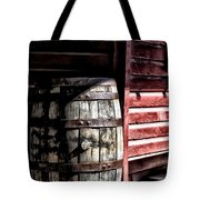 Old Wooden Barrel Tote Bag