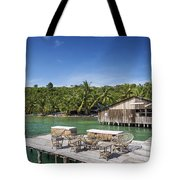 Old Wooden Pier Of Koh Rong Island In Cambodia Tote Bag