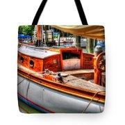 Old Wooden Sailboat Tote Bag