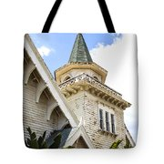 Old Wooden Victorian Chapel Church Steeple Fine Art Landscape Photography Print Tote Bag