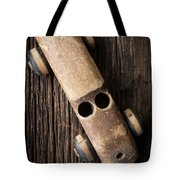 Old Wooden Vintage Toy Car Tote Bag