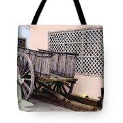 Old Wooden Wagon Tote Bag by Marilyn Hunt