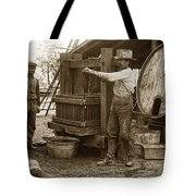 Old  Wooden Wine Press Circa 1910 Tote Bag