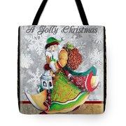 Old World Santa Clause Christmas Art Original Painting By Megan Duncanson Tote Bag