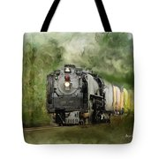 Old World Steam Engine Tote Bag