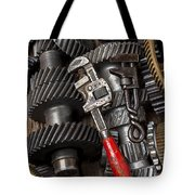 Old Wrenches On Gears Tote Bag