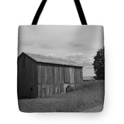 Olde Homestead - Olde Barn - Black And White Tote Bag