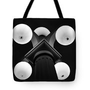 Old Tampa Light Black And White Tote Bag