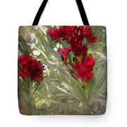 Oleander Blooms - A Touch Of Red Tote Bag