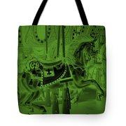 Olive Green Horse Tote Bag