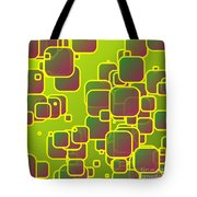 Olive Green Squares Tote Bag